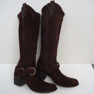 SIZE 9.5.Apepazza ATENA Western Suede Knee Boots.